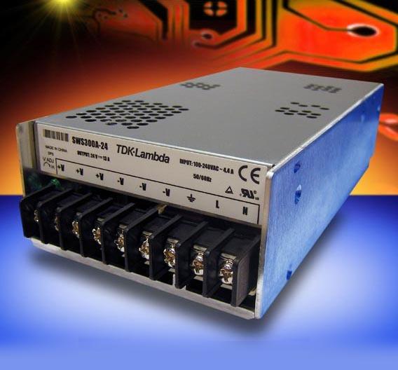 Das Einbau-Netzteil »SWS300A« von TDK-Lambda bietet eine Vielzahl an Ausgangsspannungen zwischen 3,3 V und 48 V
