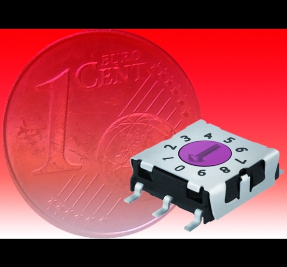 Codierschalter mit 2,5 mm Bauhöhe