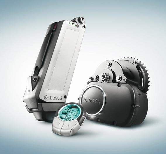 Bosch eBike-System-Komponenten.