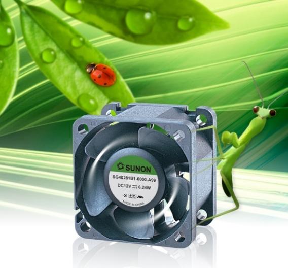 Der Radiallüfter SG40281B1-0000-A99 erzeugt minimale Vibrationen