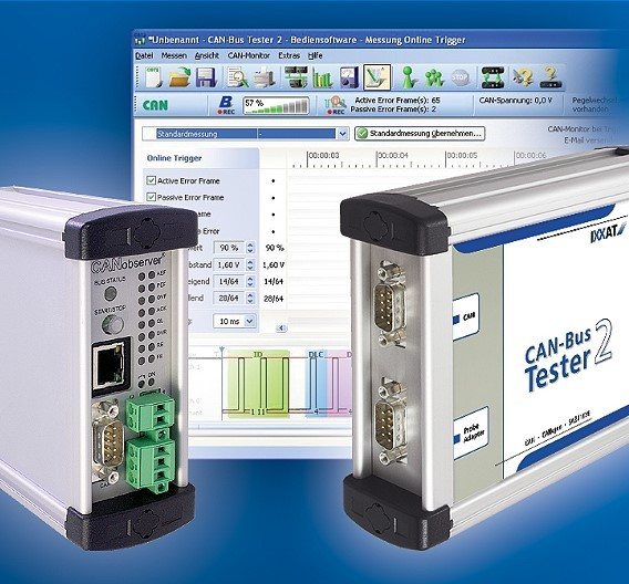 Ixxat Automation bietet ein umfangreiches CAN-Analysegeräte-Portfolio.