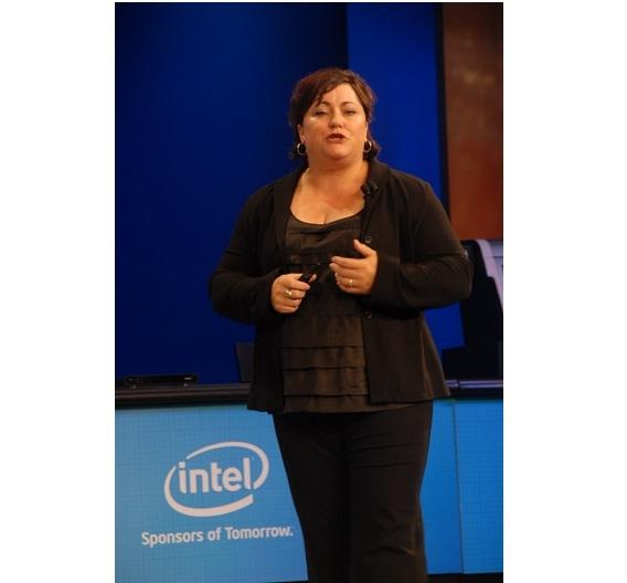 Renee James, bei Intel für Software und Services verantwortlich, berichtete über wachsenden Zuspruch zu Intel's Apps-Store.