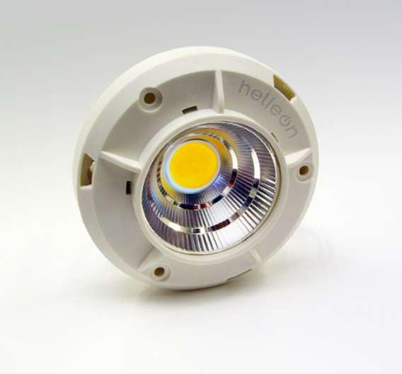 Das Lichtmodul Helieon lässt sich einfach wie eine Glühbirne austauschen.