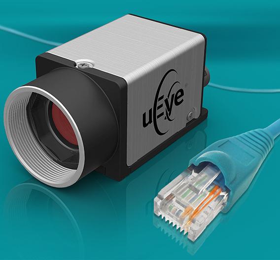 Die »GigE uEye CP« von IDS Imaging Development Systems misst 29 x 29 x 41 mm³ und ist in einem Magnesiumgehäuse untergebracht.