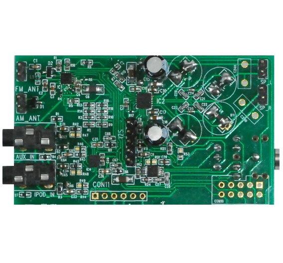 Schematische Darstellung der Audioverarbeitung im IC Si270x.