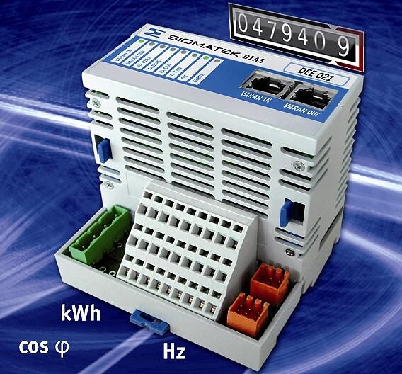 Für Energietransparenz sorgt das Energieerfassungsmodul DEE 021 von Sigmatek.