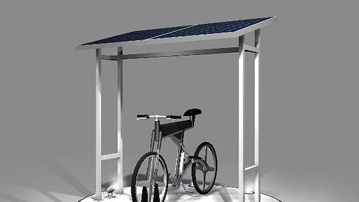 Solar betriebenes E-Bike