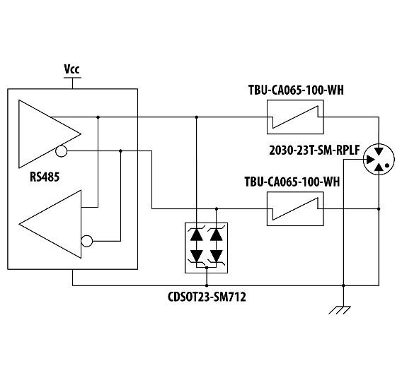 RS-485 Schutz mit TVS, TBU und GDT Technologie