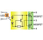Prinzipieller Aufbau eines PhotoMOS-Relais