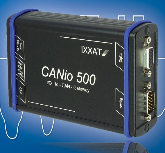Das I/O-Gateway »CANio 500« von Ixxat Automation bietet Ein- und Ausgänge für digitale und analoge Signale.