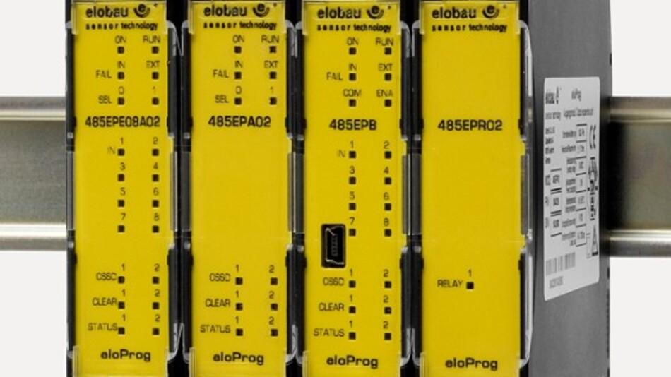 Das modulare Sicherheitssystem »eloProg« von elobau erfüllt die Sicherheitsklassen SIL 3 und PL e.