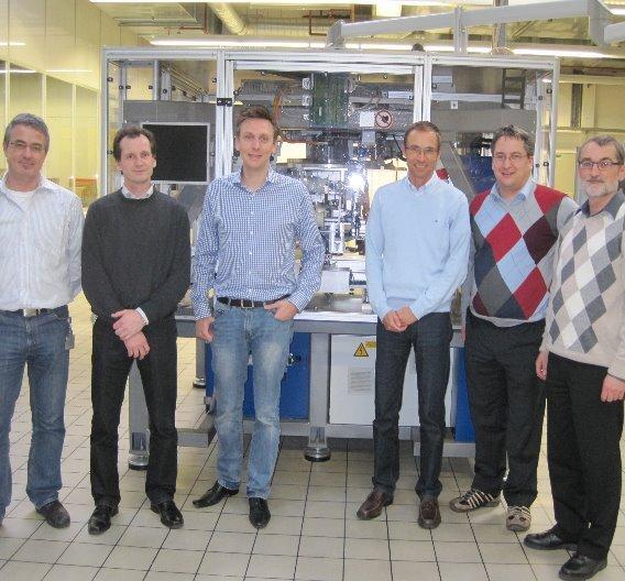 von links: Manfred Grimmeisen, Bernd Schweizer, Dr. Marc Schweizer und Marc Bunz (alle SEAG), Markus Wölfel (Jumatech) und Bernfried Fleiner (SEAG)