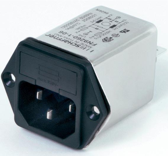 Der IEC-Steckerfilter erfüllt sie die Anforderungen der IEC/EN 61010 und der IEC/EN 60601.