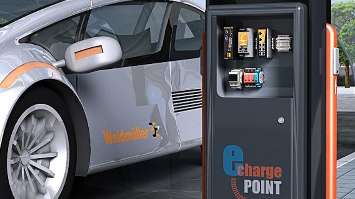Weidmüller bietet ein umfangreiches Produktprogramm für Elektrofahrzeug-Ladesäulen.