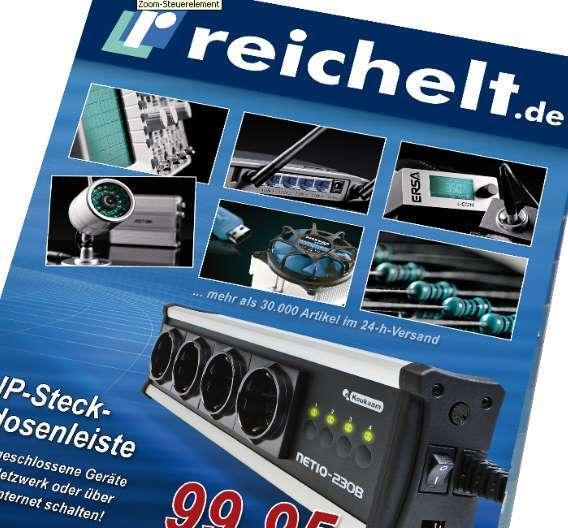 1084 Seiten umfasst der neue Hauptkatalog von reichelt Elektronik.