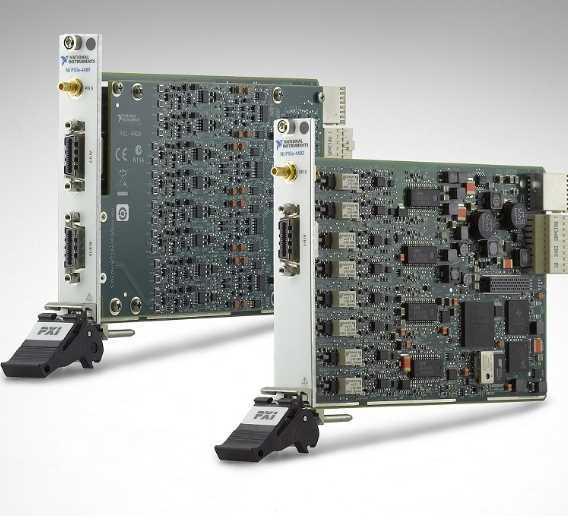 Für die Erfassung dynamischer Signale mit hoher Kanalanzahl ausgelegt sind die Module der Reihe NI PXIe-449x von National Instruments