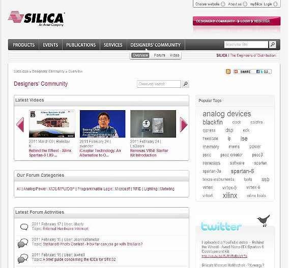 Bild 1: Silicas »Designers´ Community« setzt auf Web-2.0-Elemente wie Videos, die Nutzer selbst hochladen können.