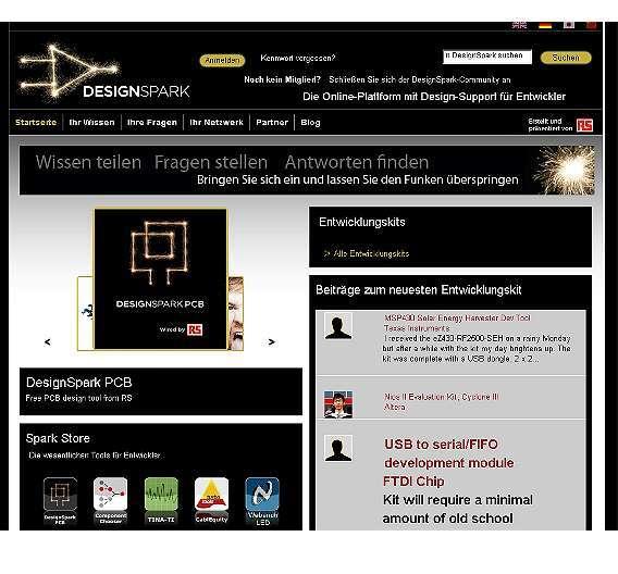 Bild 3: Im »SparkStore« stellt das »DesignSpark«-Portal von RS Components mehr als 200 Designtools zum freien Download bereit.
