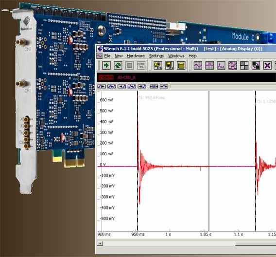 Eine doppelte Zeitbasis und ein spezieller Betriebs-Modus löst bei den High-speed-Digitizern von Spectrum viele Probleme der Datenaufzeichnung