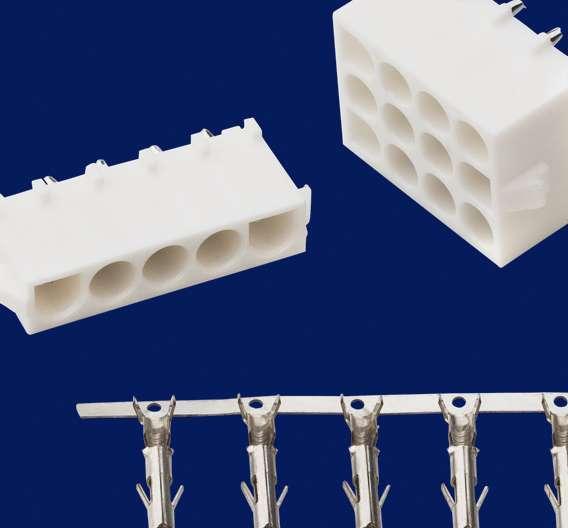 Die kompakten Power Steckverbinder eignen sich für die Verdrahtung von Einzellitzen im Crimp-Rast-System.