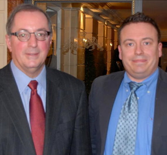 Intel-CEO Paul Otellini (links) mit Elektronik-Redakteur Frank Riemenschneider.