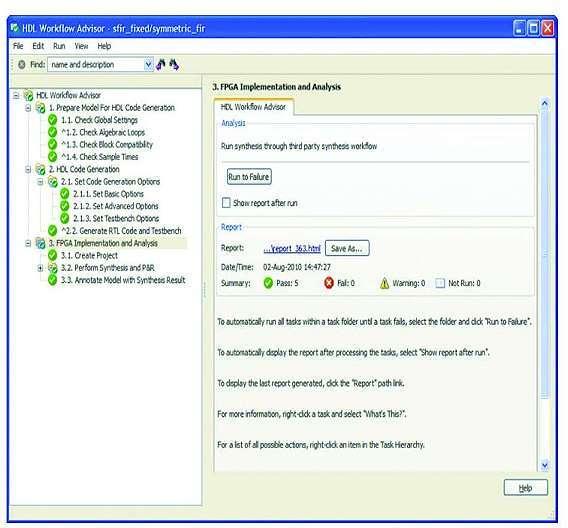 Bild 7: Der »Workflow Advisor« des »Simulink HDL Coder« unterstützt Designiterationen.