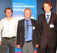 Sensor+Test 2011, Sensor Innovationspreis, Dr. Daniel Schock-Kusch, Dr. Markus Fratz, Prof. Dr. Ulrich Zimmermann (v.l.n.r.)