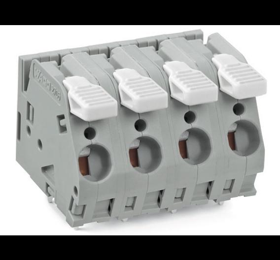 Neue Hochstromklemmenleisten mit Betätigungshebeln und Cage-Clamp-Anschluss
