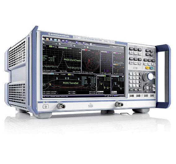 Bild 1. Beachtenswert an den neuen Netzwerkanalysatoren R&S ZNB und R&S ZNC sind die Frequenzbereiche bis 4,5 bzw. 8,5 GHz und der Dynamikbereich bis 140 dB.