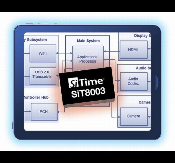 Auf SiTimes SiT8003-MEMS-Plattform basierenden Oszillatoren sind etwa 30 Prozent flacher.