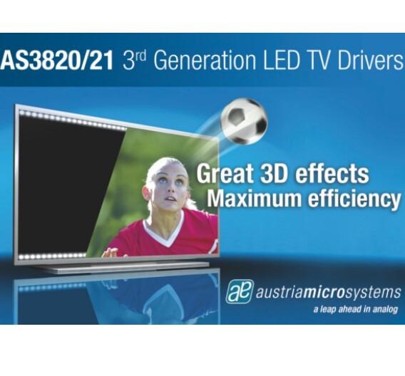 LED-Treiber für LCD-TVs von Austriamicrosystems