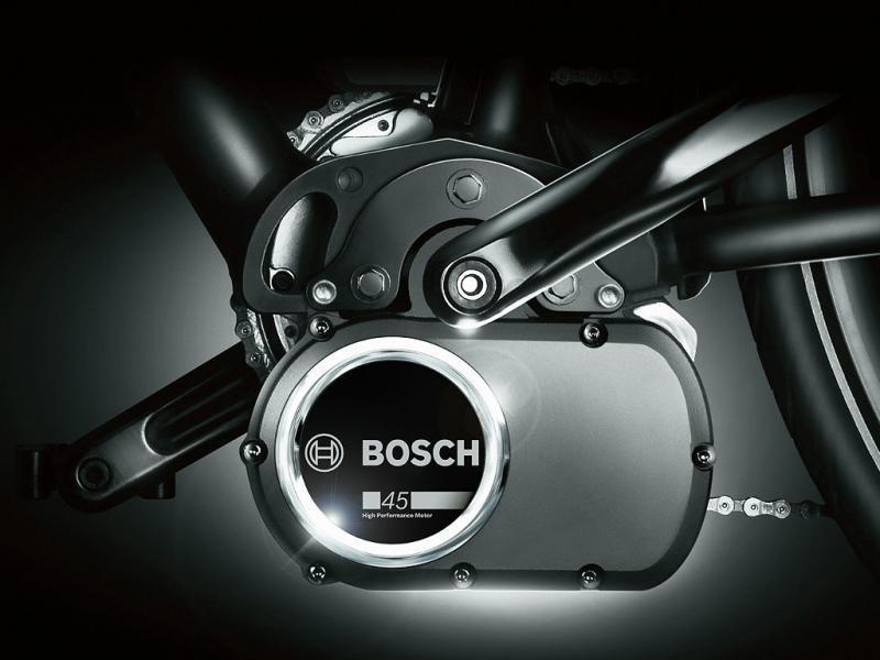 Die neue Drive Unit 45 von Bosch, Komponente des Bosch eBike Systems, unterstützt schnelle eBikes bis zu einer Geschwindigkeit von 45 km/h.