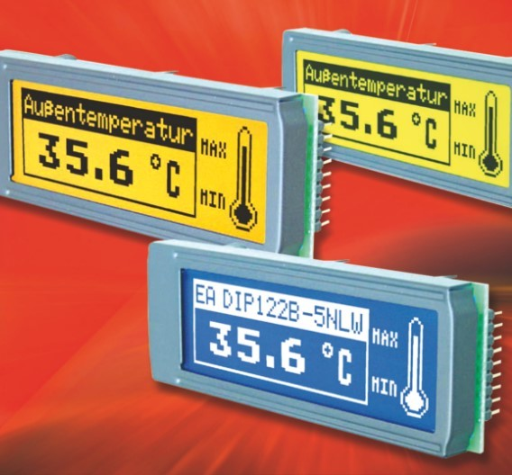 Display-Familie EA DIP122-5 von Electronic Assembly