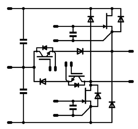Bild 1: MNPC-Topologie mit SiC-JFET
