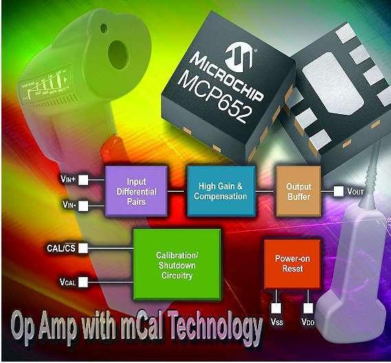 Bild 2: Der Operationsverstärker »MCP652« von Microchip ist mit der Kalibriertechnik »mCal« ausgestattet, die den Baustein nur nachkalibriert, wenn es nötig ist.