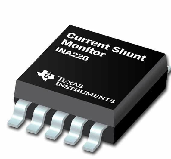 Der INA226 ist ein sehr präzise und verlustarm arbeitender Strom-/Spannungs- und Leistungsmess-Baustein.