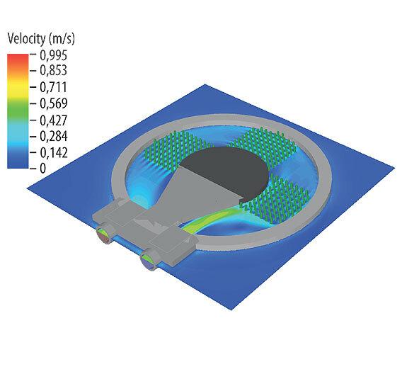 Bild 1. Beispielhafte Darstellung einer mit Flüssigkühlung ausgestattetes Kühldose für IGBT-Module.