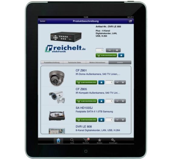 reichelt online Shop als iPhone-App