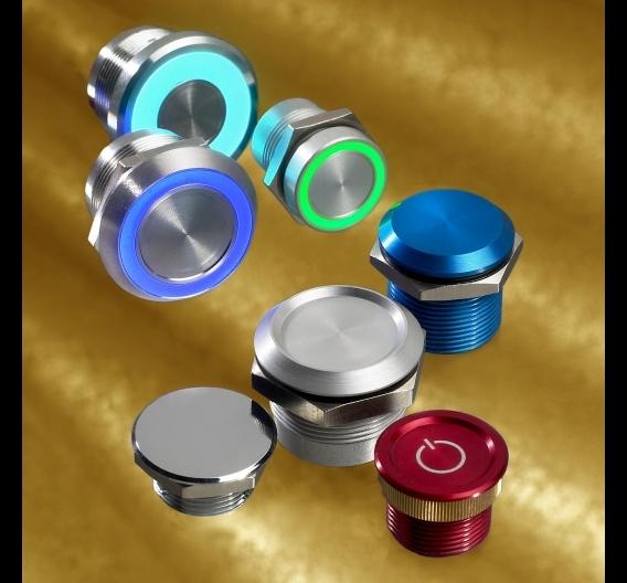 APEMs Produktportfolio umfasst ein breites Sortiment an Schaltern, Joysticks, Tastaturen und LED-Indikatoren.
