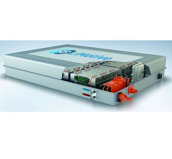 Bild 2: Die einzelnen Lithium-Ionen-Zellen werden zu Modulen gebündelt und gemeinsam mit einem Batterie-Management-System sowie Thermomanagement- und Elektronikkomponenten zu einem Batteriesystem zusammengefasst
