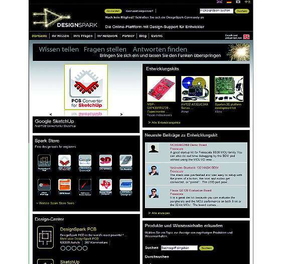Bild 2: Die Online-Community »DesignSpark« hat laut Angaben von RS Components bereits 80000 Nutzer