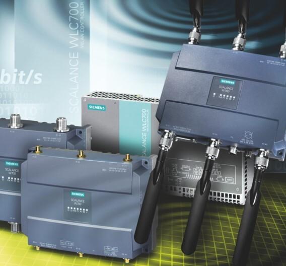 Die neuen Industrial-WLAN-Komponenten gemäß dem Standard IEEE 802.11n erreichen Datenraten von bis zu 450 MBit/s.