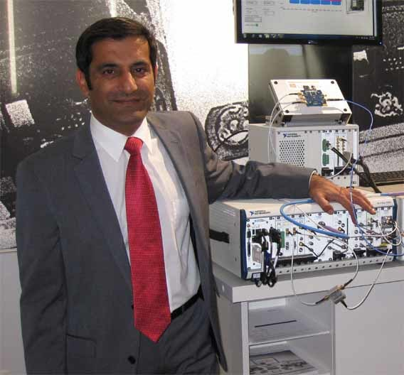Rahman Jamal, Technical and Marketing Director Europe bei National Instruments mit einer beachtenswerten Erweiterung des PXI-Produktportfolios.