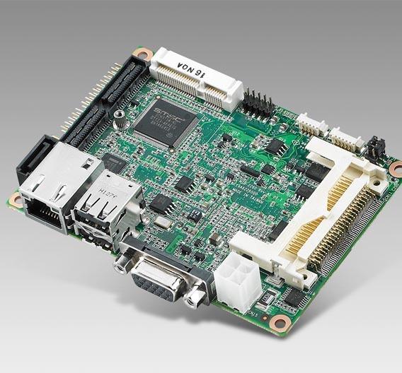 So groß wie eine 2,5-Zoll-Festplatte: Die Single-Board-Computer der MIO-Serie können über mit steckbaren Modulen zusätzliche Schnittstellen erhalten.