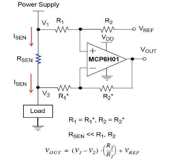 Bild 3: Differenzverstärker mit einem einzigen Operationsverstärker