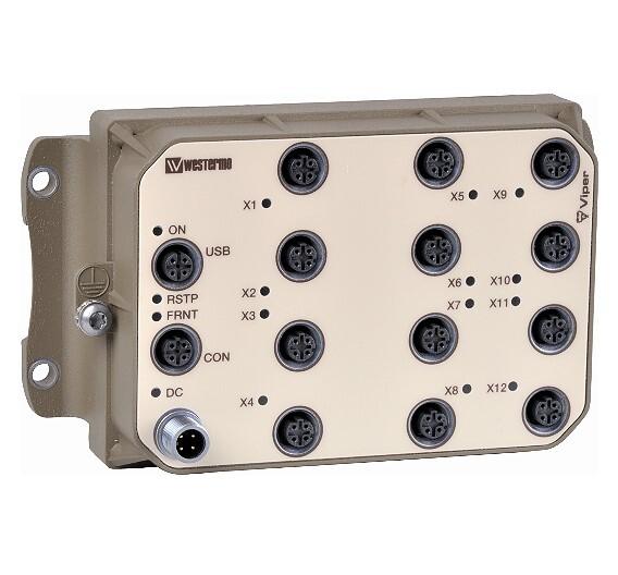 Der Ethernet-Rail-Switch »Viper-212« von Westermo sorgt für zuverlässige Kommunikation während der Zugfahrt.