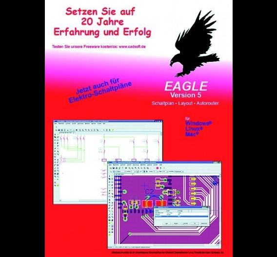 """Die Eagle-Software-Version 5.11 enthält u.a. zusätzliche """"DesignLink""""-Funktionen"""