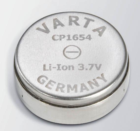 """Die """"Coin Power""""-Li-Ionen-Akkuzellen CP1654."""
