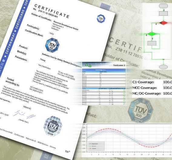 Das Tessy-Zertifikat ist das erste, das vom TÜV Süd nach der endgültigen ISO 26262 - und nicht mehr nach dem Final Draft International Standard (FDIS) - ausgestellt wurde.
