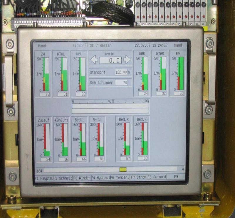 Ein 15-Zoll-Display von i-sft arbeitet in einem Walzenlader des Typs SL900 von Eickhoff